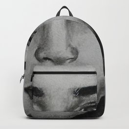 Art, graphic portrait beautiful girl Backpack