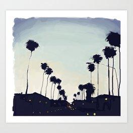 Sunset Boulevard Art Print