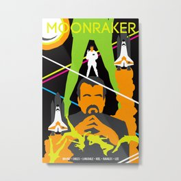 James Bond Golden Era Series :: Moonraker Metal Print