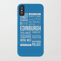 edinburgh iPhone & iPod Cases featuring Edinburgh by Just Being Creative