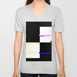 Squares 2x2 1 Unisex V-Neck