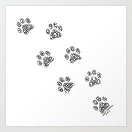 Cat tracks Art Print