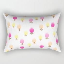 Summer Flower Pattern Rectangular Pillow