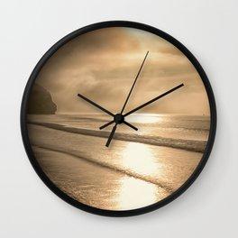And so it Begins sunrise at Avila Beach California Wall Clock
