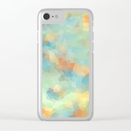 "Colored crystals . ""Sunbeams"" . Clear iPhone Case"