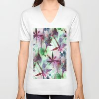 northern lights V-neck T-shirts featuring Northern Lights by Cannabis Color Art