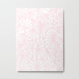 Handmade minimal geometric pattern - pastel pink #decor Metal Print