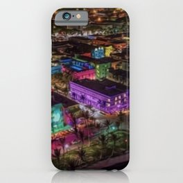 Midnight South Beach, Miami; A Portrait Painting by Jeanpaul Ferro iPhone Case