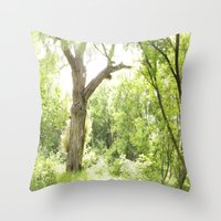 narnia Throw Pillows featuring NARNIA - The Forest  by Lord Elion