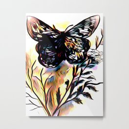 On Butterfly Wings Metal Print