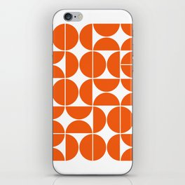 Mid Century Modern Geometric 04 Orange iPhone Skin