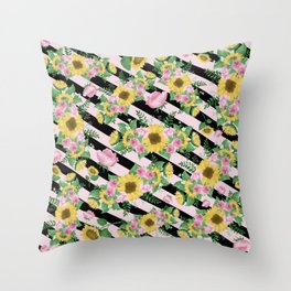 Angelic Floral P1 Throw Pillow