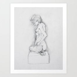 life drawing woman Art Print