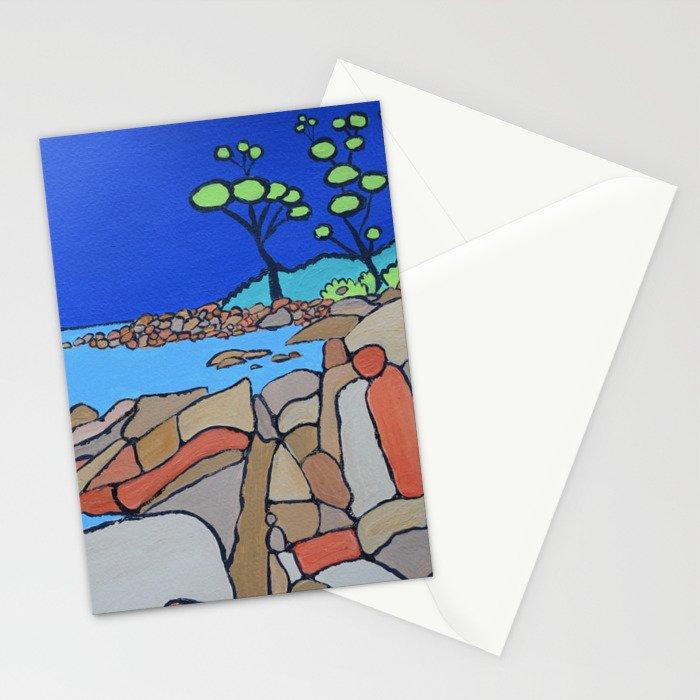 Bay of Fires Tasmania  Ocean Beach Stationery Cards