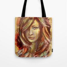 Olivia Wilde Digital Painting Portrait Tote Bag