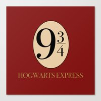harry potter Canvas Prints featuring HARRY POTTER by Sophie