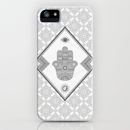 A Blessing (Glitter Grey) iPhone Case