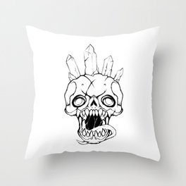 Crystal Crowned Throw Pillow