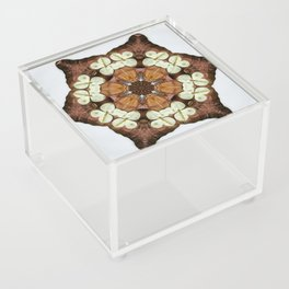 Moth and Flower Mandala Acrylic Box