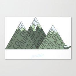 Mountain Type Canvas Print