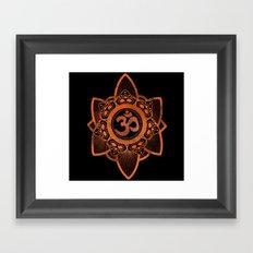 Ohm - Yoga Print Framed Art Print