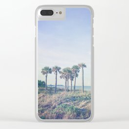 Seven Palm Trees Clear iPhone Case