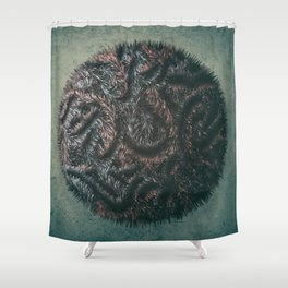 Augmented Furball Shower Curtain
