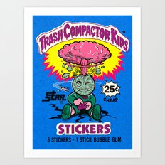 TRASH COMPACTOR KIDS Art Print