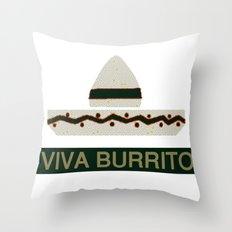 VIVA BURRITO Throw Pillow