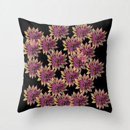 Spring Flowers Pattern Throw Pillow
