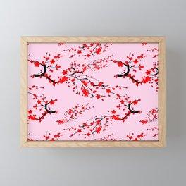 Sakura tree,cherry blossom pattern  Framed Mini Art Print