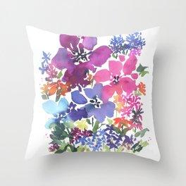 Pretty Poppy Patch Throw Pillow