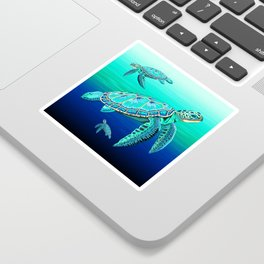 Sea Turtle Turquoise Oceanlife Sticker