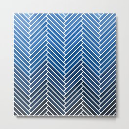 Parquet All Day - Chambray Metal Print