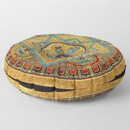 Buddhist Hindu Mandala 23 Floor Pillow