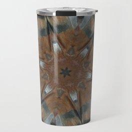 Tee Pee Bird Totem Mandala Kaleidoscope Travel Mug