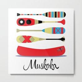 Muskoka Canoe Metal Print