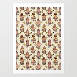 Flight of the Buzzy Bees Art Print