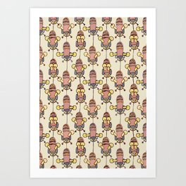 Flight of the Buzzy Bees Art Print