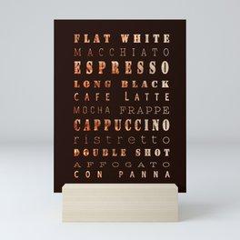 Coffee Types Poster Mini Art Print
