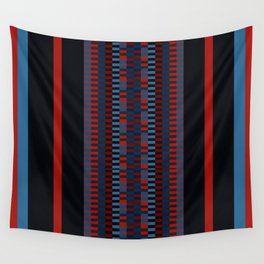 Checkered Ethnic Mosaic Pattern Wall Tapestry