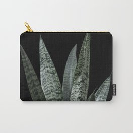 Snake plant with black Carry-All Pouch