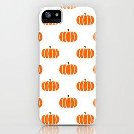 Pumpkin Patch Pattern iPhone Case