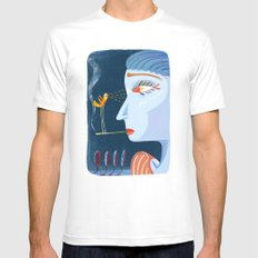 bird White MEDIUM Mens Fitted Tee