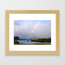 Killarney Lakes Rainbow Framed Art Print