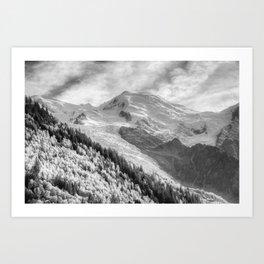 Mont Blanc Monochrome Art Print