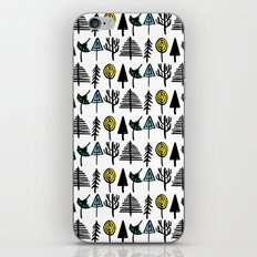 Hand drawn tree pattern iPhone & iPod Skin