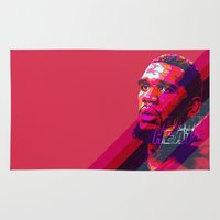 greg guillemin Area & Throw Rugs featuring GREG ODEN MIAMI HEAT by mergedvisible