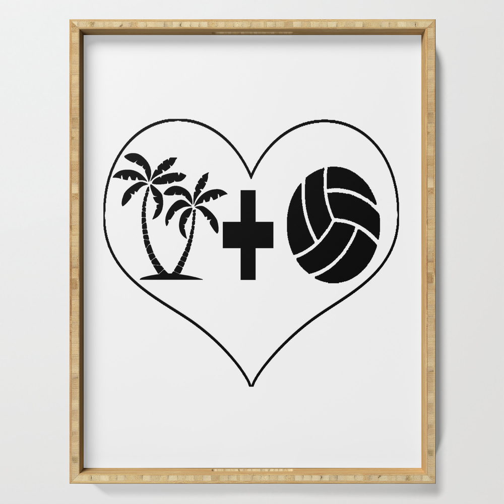 Beach Volleyball Love Serving Tray by desteesigners