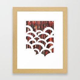 Eco Art 6 - Red Scallop Framed Art Print